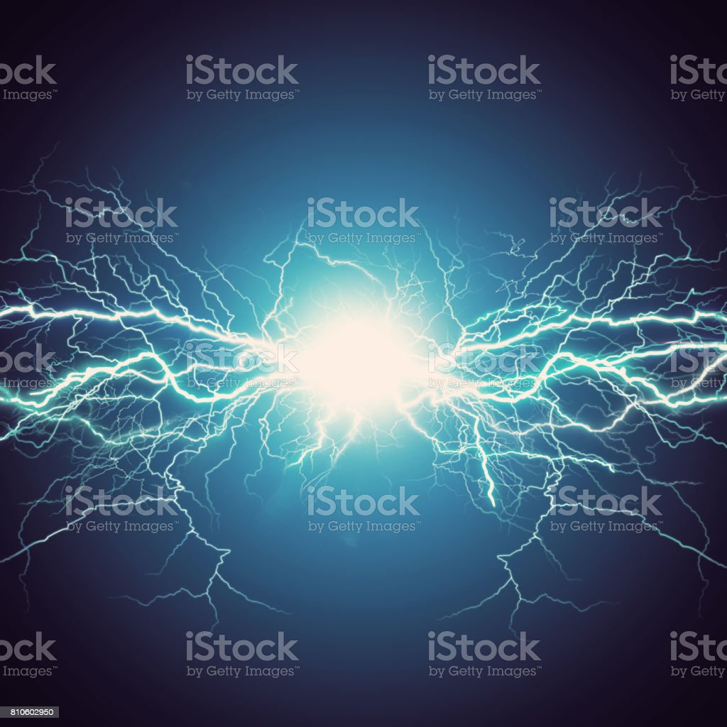 Thunder bolt stock photo