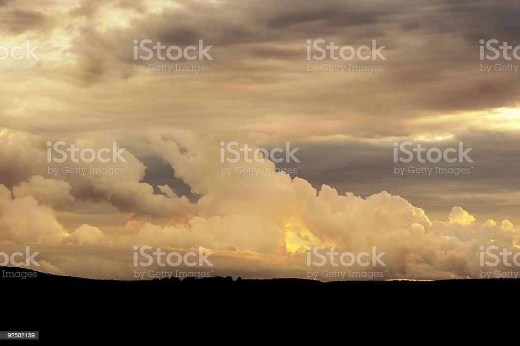 Thunder clouds royalty-free stock photo