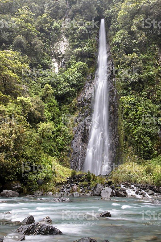 Thunder Creek Falls stock photo