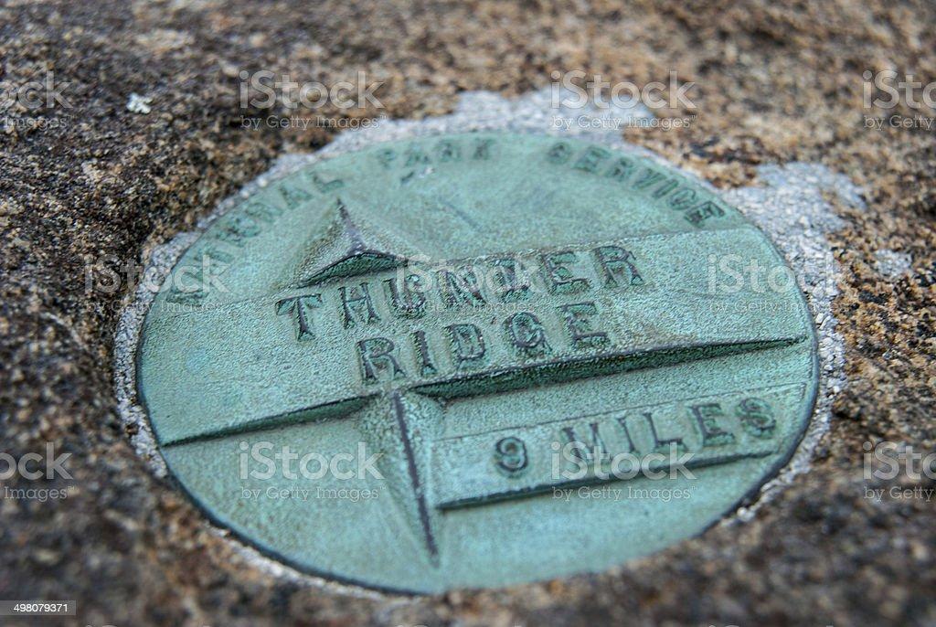 Thunder Ridge Monument stock photo