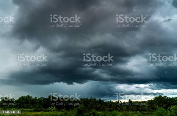 Photo of thunder storm sky Rain clouds