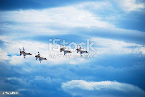 istock Thunderbirds Airplane Formation 475774507