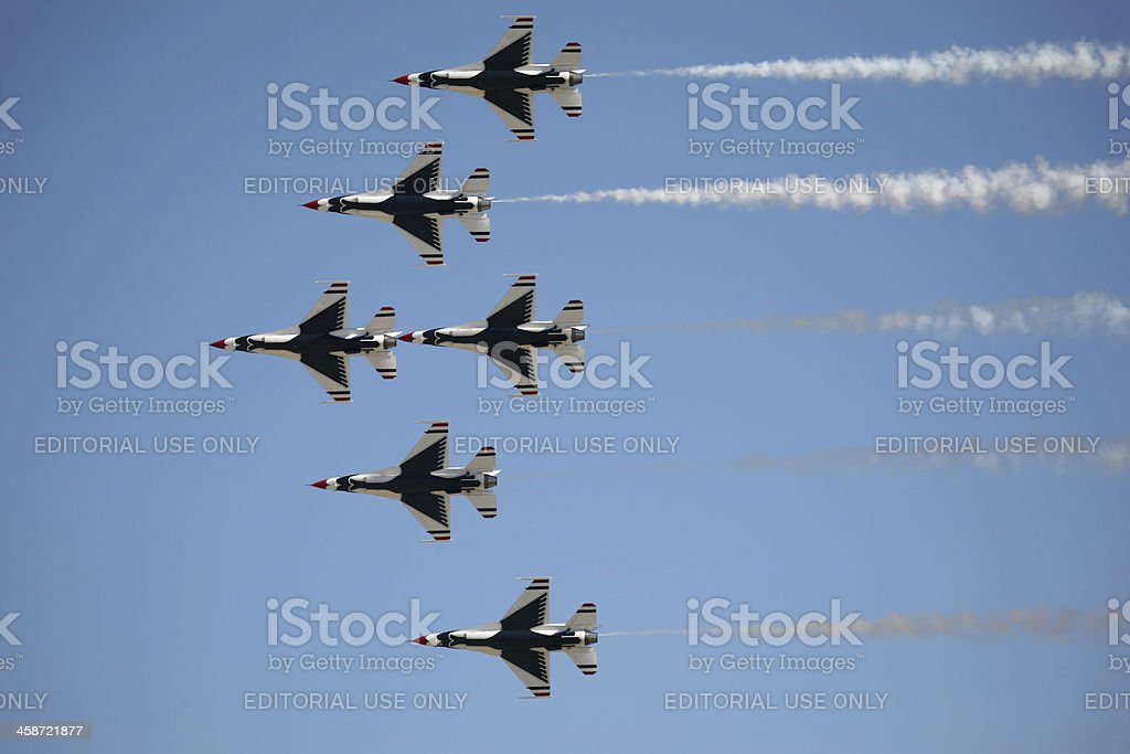 USAF Thunderbirds in Formation royalty-free stock photo