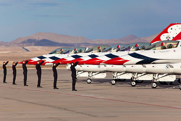 usaf thunderbirds - sonic boom stock photos and pictures