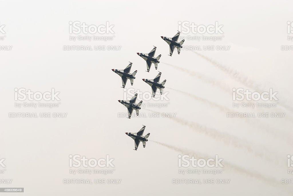 Thunderbirds (US Air Force) royalty-free stock photo