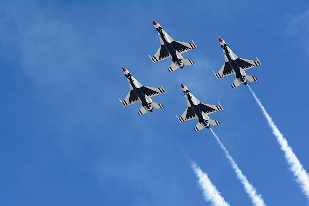 usaf thunderbirds - airshow stock photos and pictures