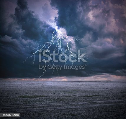 503731700 istock photo Thunderbolt and Clouds 499376530
