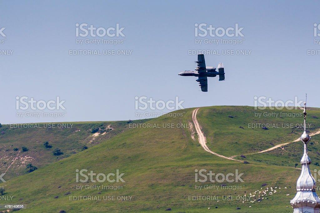 Thunderbolt II A-10 Warthog stock photo