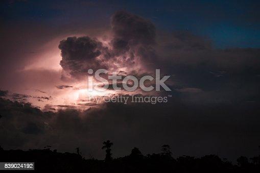 656192770istockphoto Thundercloud illuminated by lightning 839024192