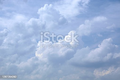 After several days of high temperatures. development of storm and thunderclouds.With updraft ( rising air) .