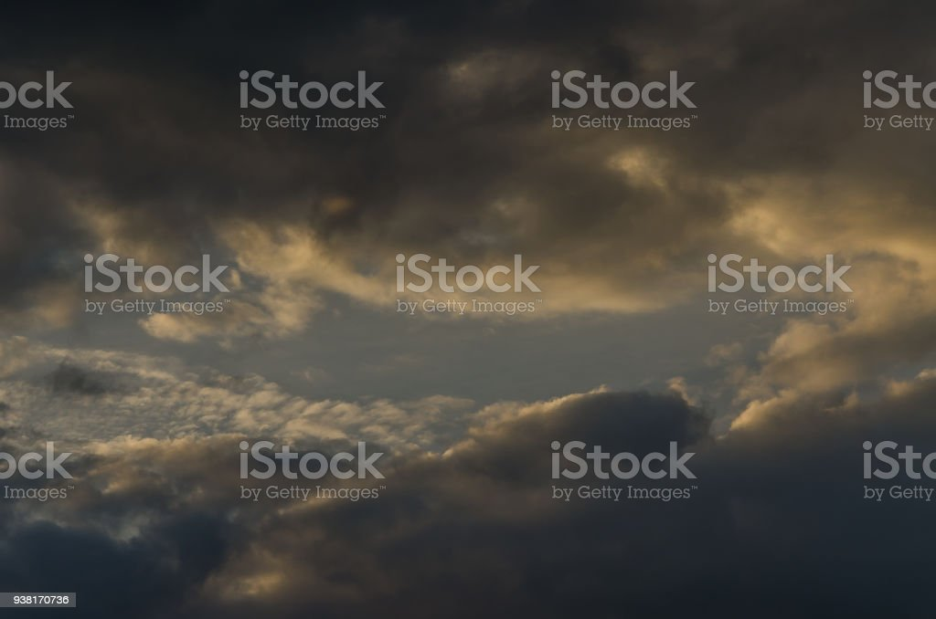 Thunderclouds stock photo