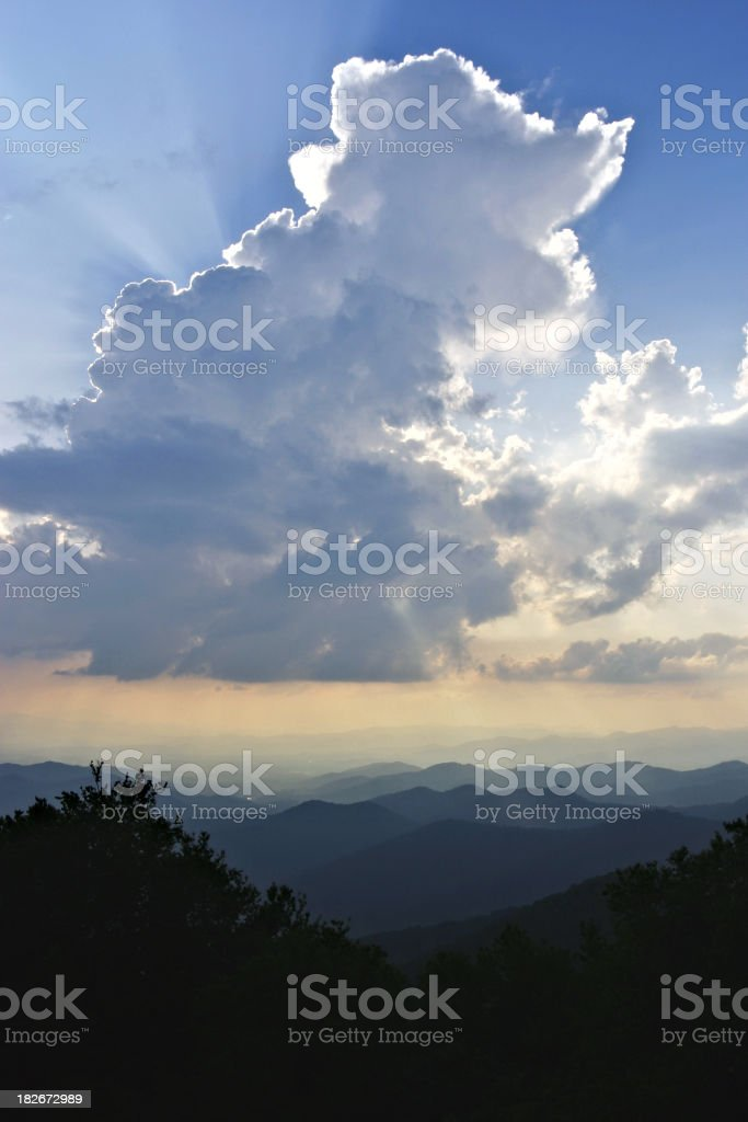 Thunderhead Over Mountains royalty-free stock photo