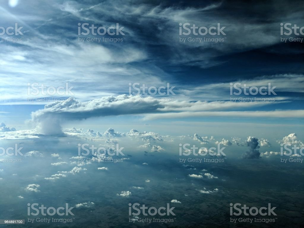 Thundering above and beyond royalty-free stock photo