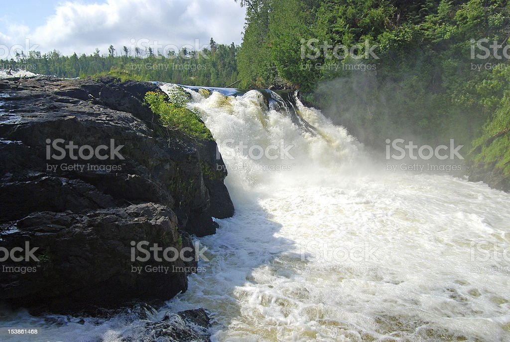 Thundering waters stock photo
