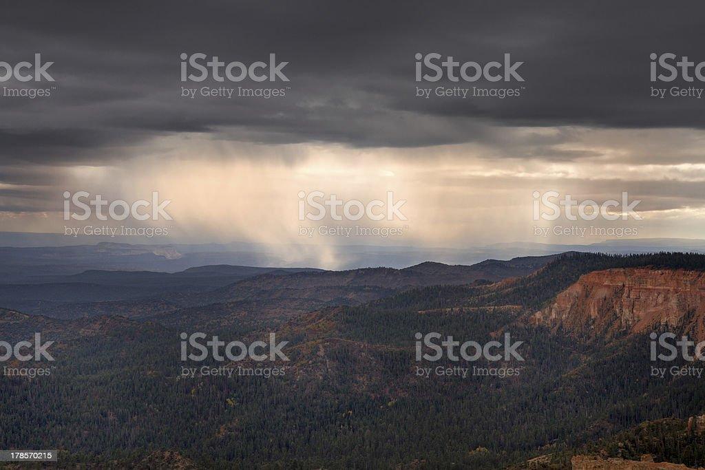 Thunderstorm at Yovimpa Point stock photo