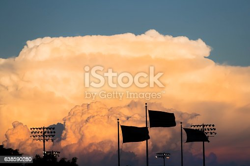 1039163636istockphoto Thunderstorm clouds at Sunset 638590280