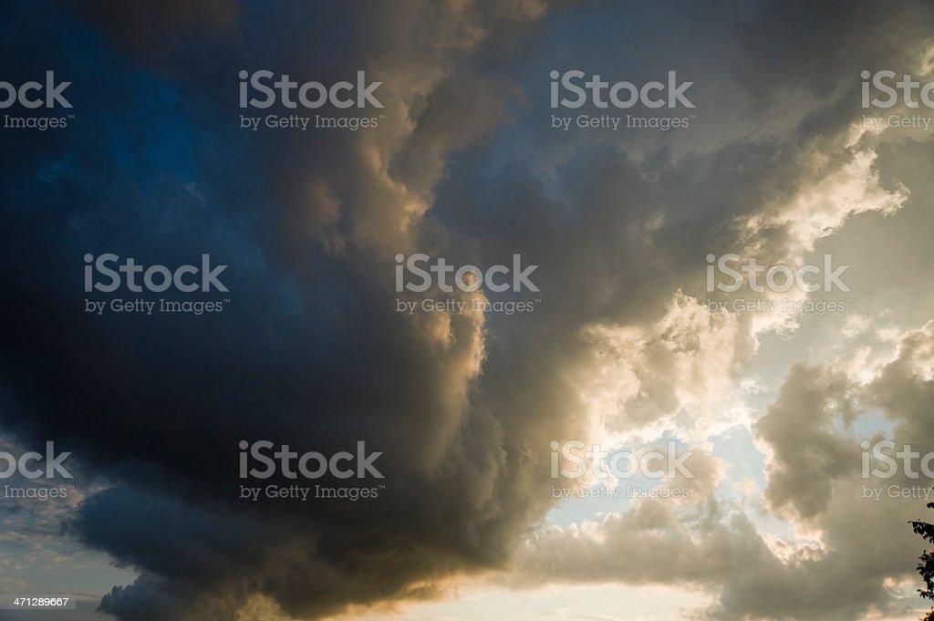 Thunderstorm cloudscape stock photo