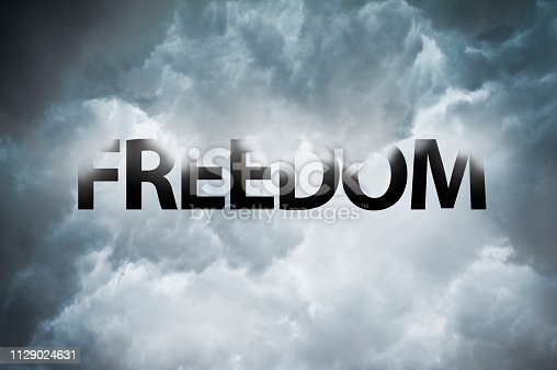 1068588904 istock photo FREEDOM  / Thunderstorm concept (Click for more) 1129024631