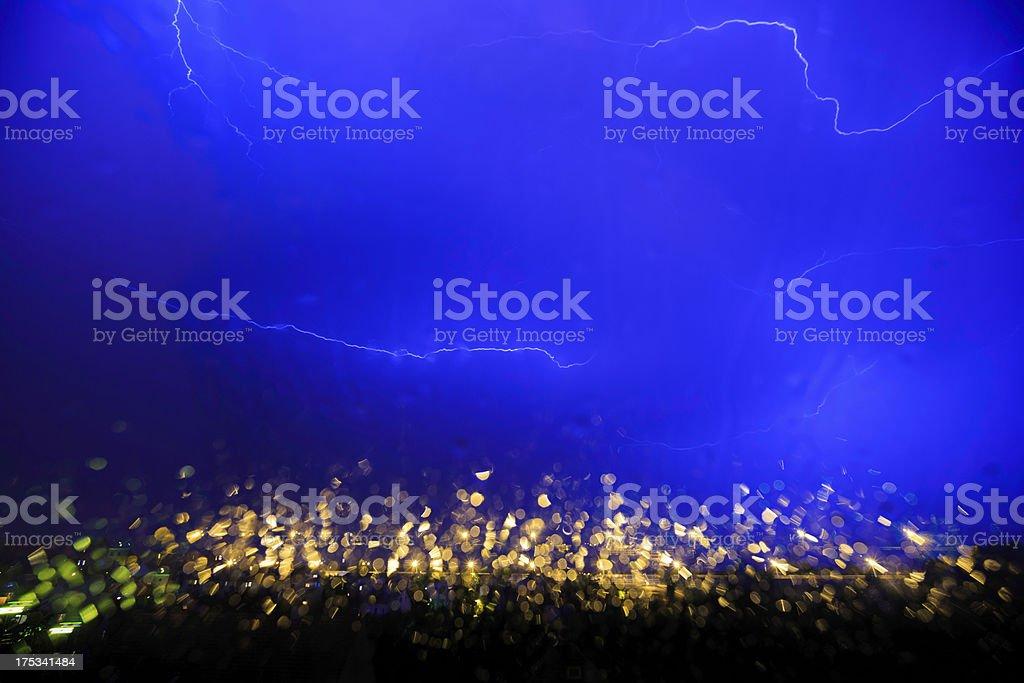 thunderstorm in the rain royalty-free stock photo