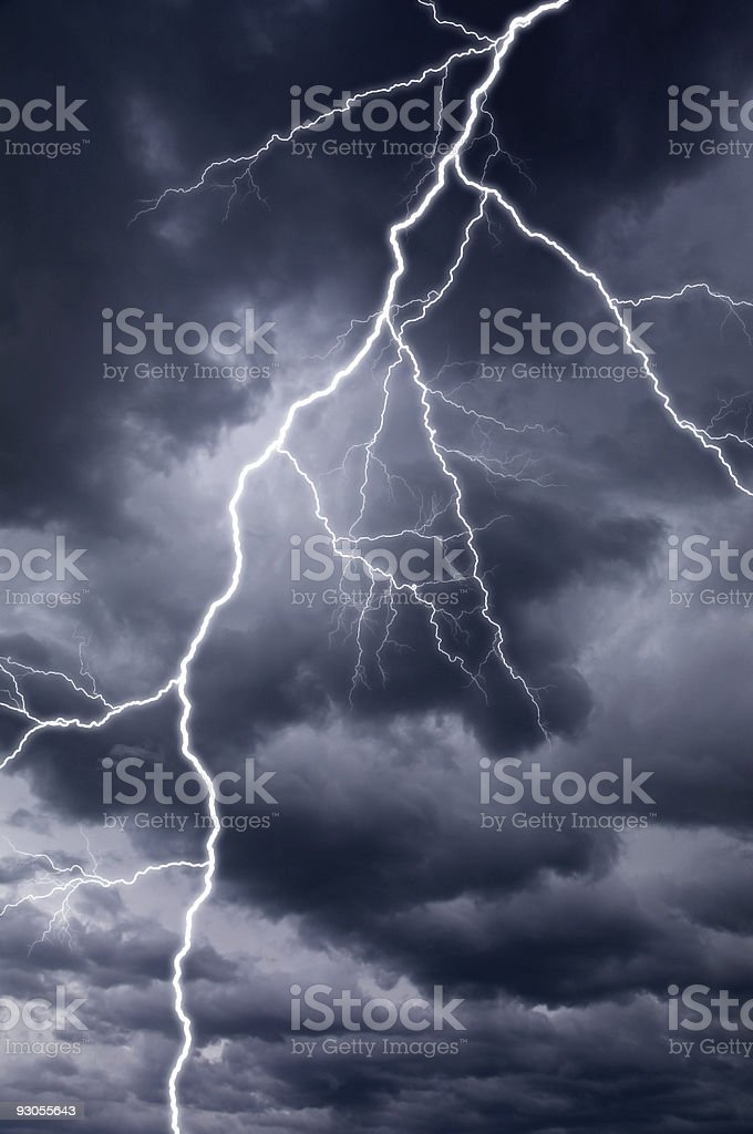 Thunderstorm Lightning Bolt royalty-free stock photo