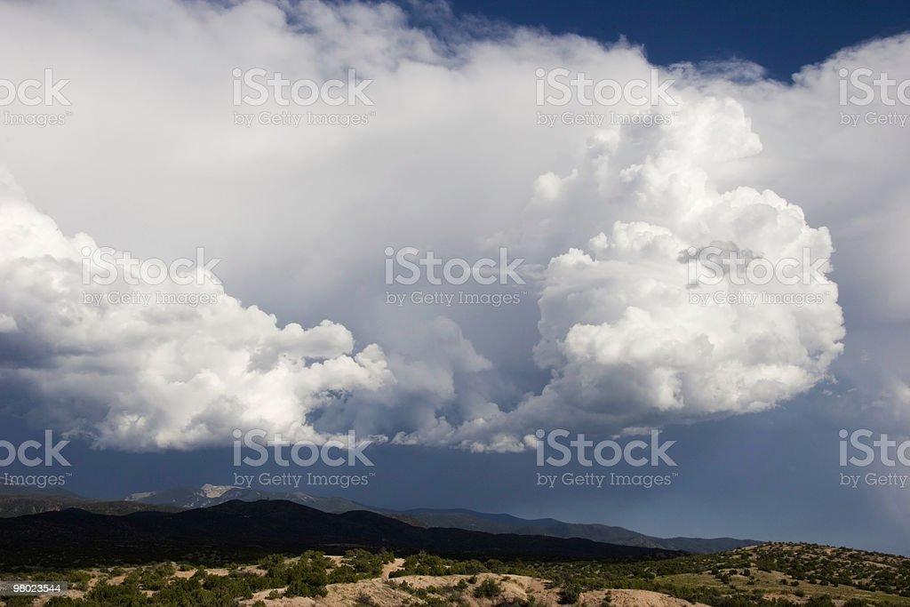 Thunderstorm Over Desert royalty-free stock photo