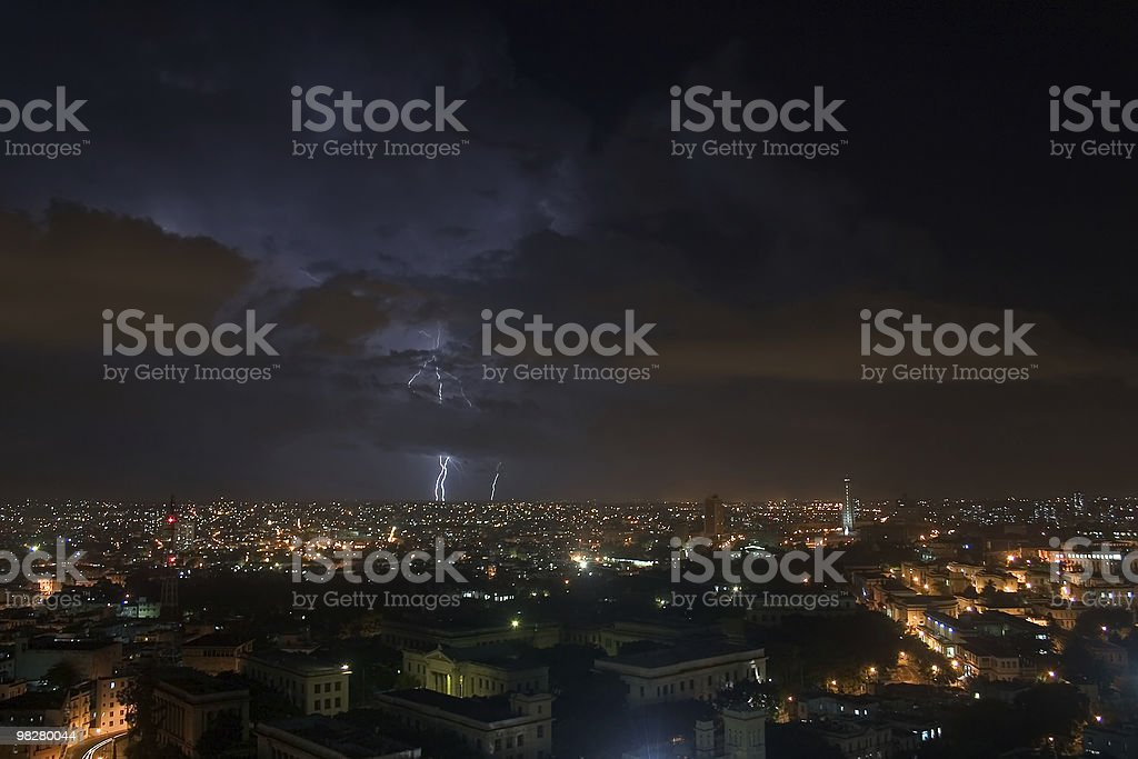 Thunderstorm over Havana royalty-free stock photo