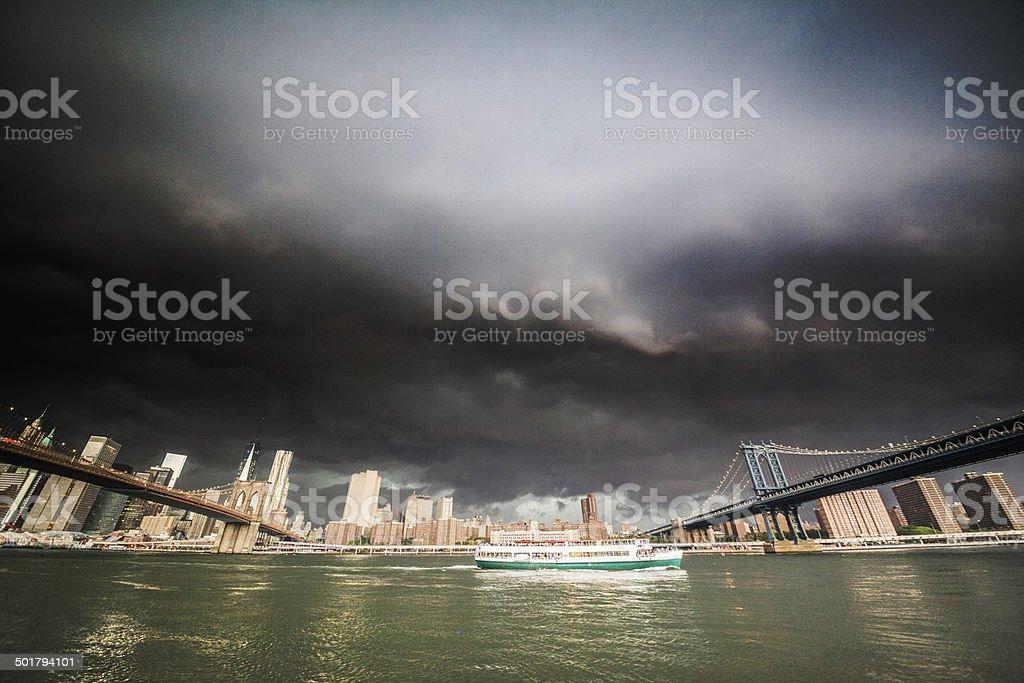 Thunderstorm over Manhattan. royalty-free stock photo