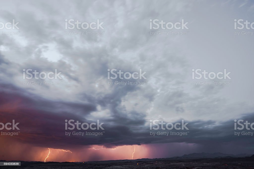 Thunderstorm stock photo