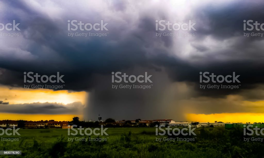 Thunderstorm - fotografia de stock
