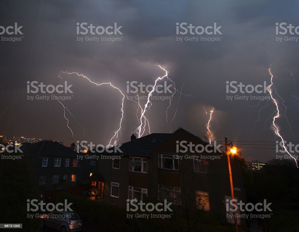 Tempestade com Trovoadaweather condition foto de stock royalty-free