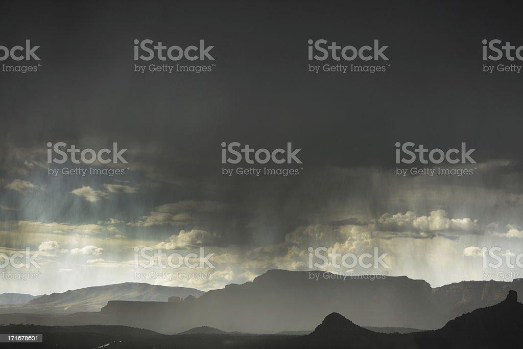 Thunderstorm Rain Hail Microburst stock photo