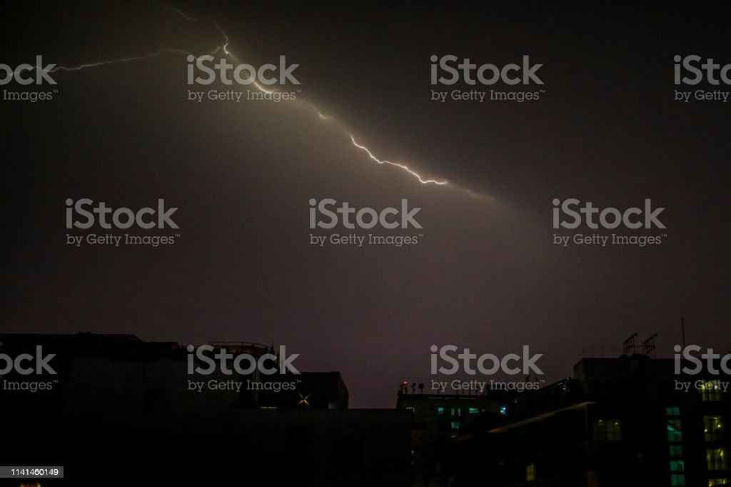A thunderstorm rolled into Dhaka Bangladesh April 09.