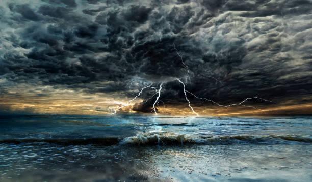 Thunderstorm with lightning above the sea at sunset picture id924460478?b=1&k=6&m=924460478&s=612x612&w=0&h=83ukj1o6xh wpgcnzv z ow0sn vqupda61kfbgbjsq=