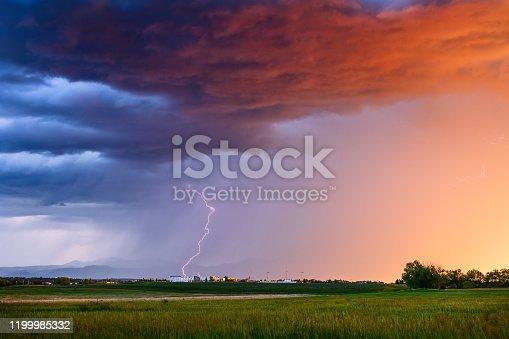 1039163636 istock photo Thunderstorm with lightning 1199985332