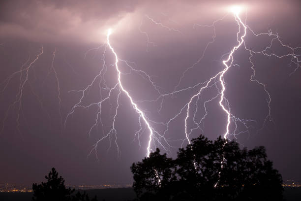 Thunderstruck stock photo