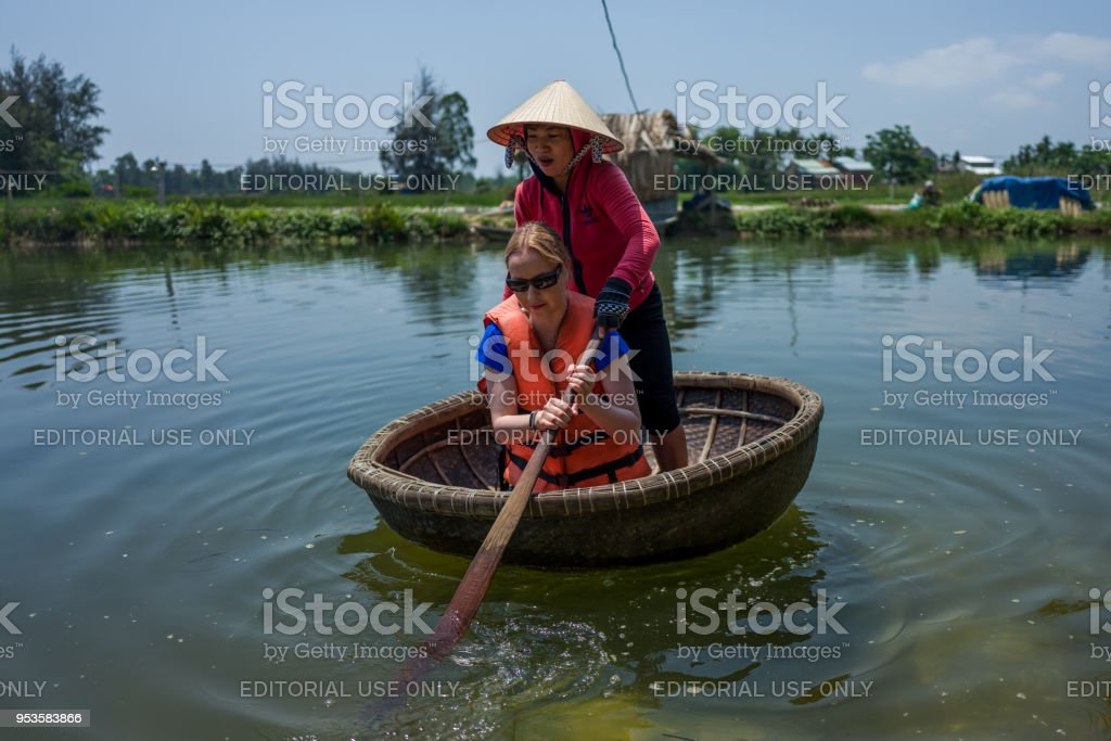 Thung Chai round boat stock photo