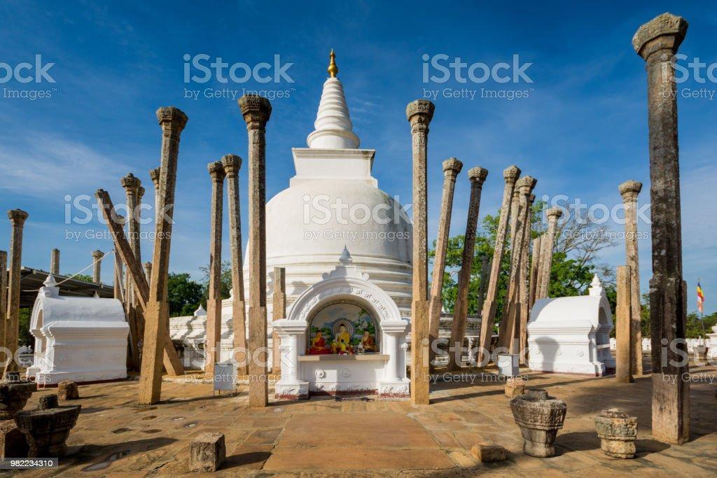 Thuparamaya dagoba (stupa), Anuradhapura, Sri Lanka. - Photo