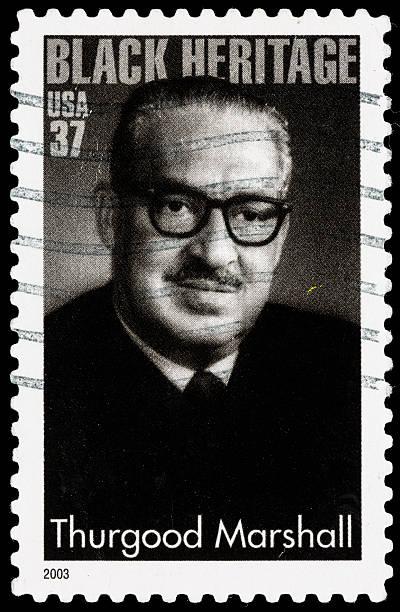 USA Thurgood Marshall postage stamp stock photo