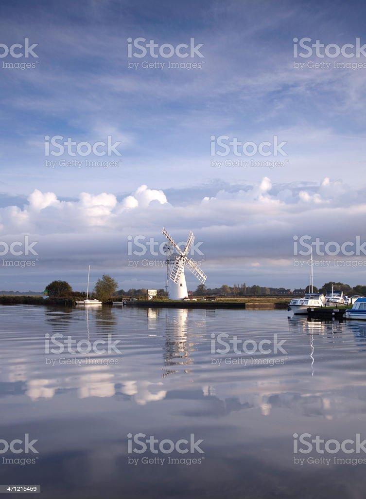 Thurne Mill, Norfolk Broads stock photo
