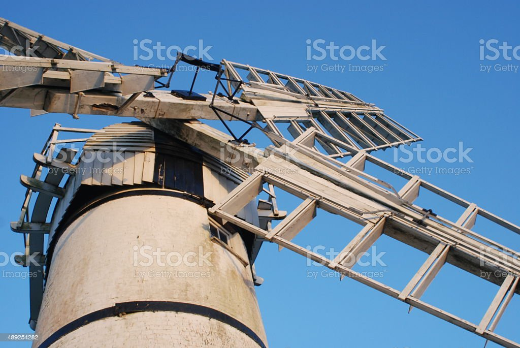 Thurne Mill, Norfolk stock photo