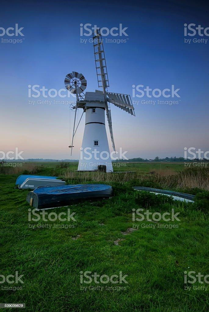 Thurne Windmill stock photo
