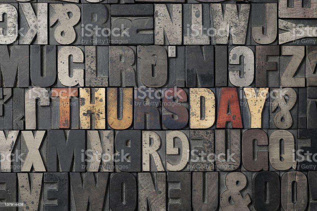 Thursday royalty-free stock photo