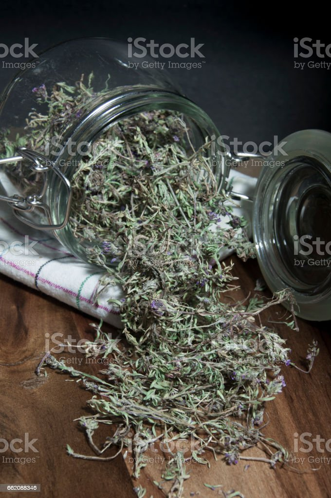 Thyme in Jar royalty-free stock photo