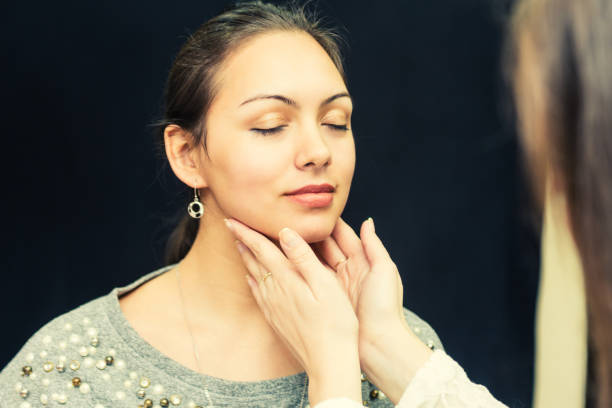 Schilddrüse-Prüfung. – Foto