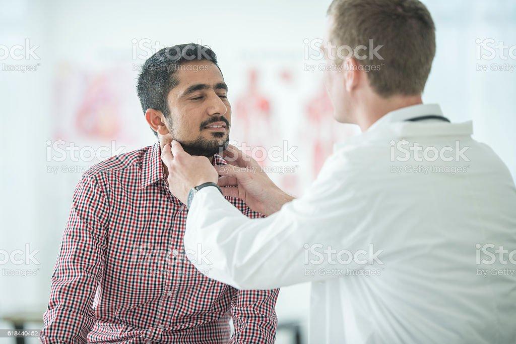 Thyroid Examination stock photo