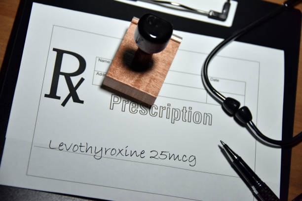 thyroid hormone deficiency stock photo