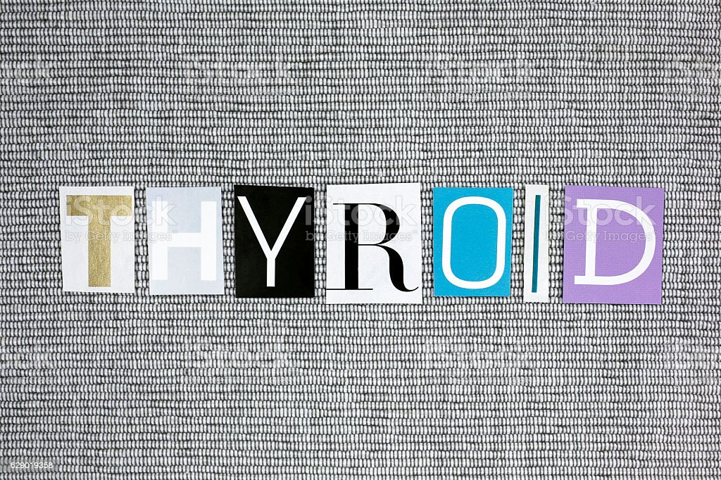 Thyroid word stock photo