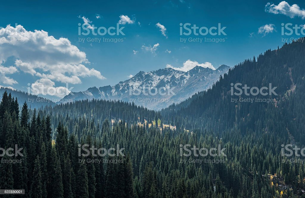 Tian Shan Mountains stock photo