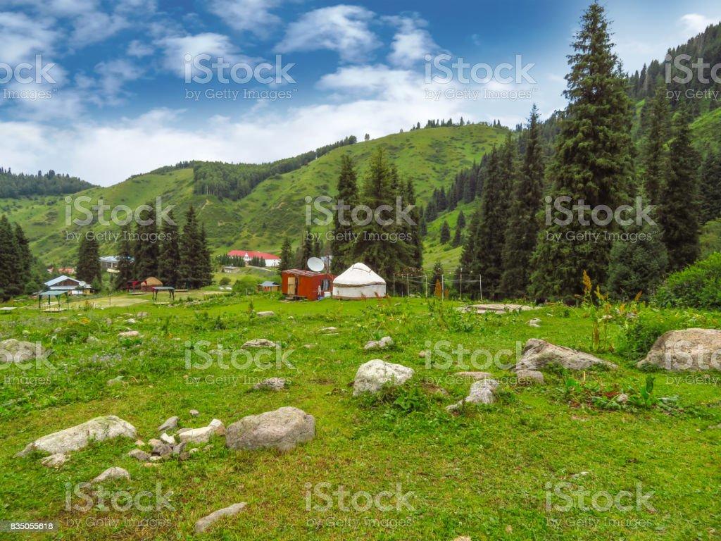 Tian Shan Mountains stock photo