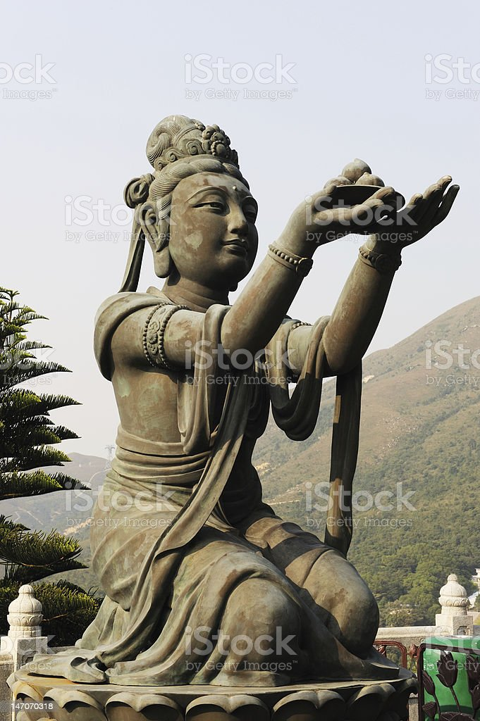 Tian Tan Buddha in Hong Kong royalty-free stock photo